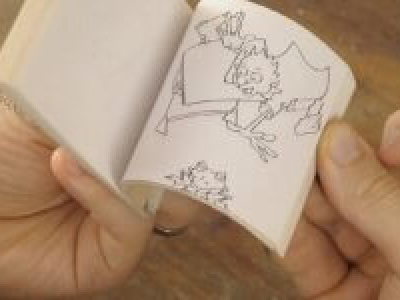 Flipbook: draw a frog