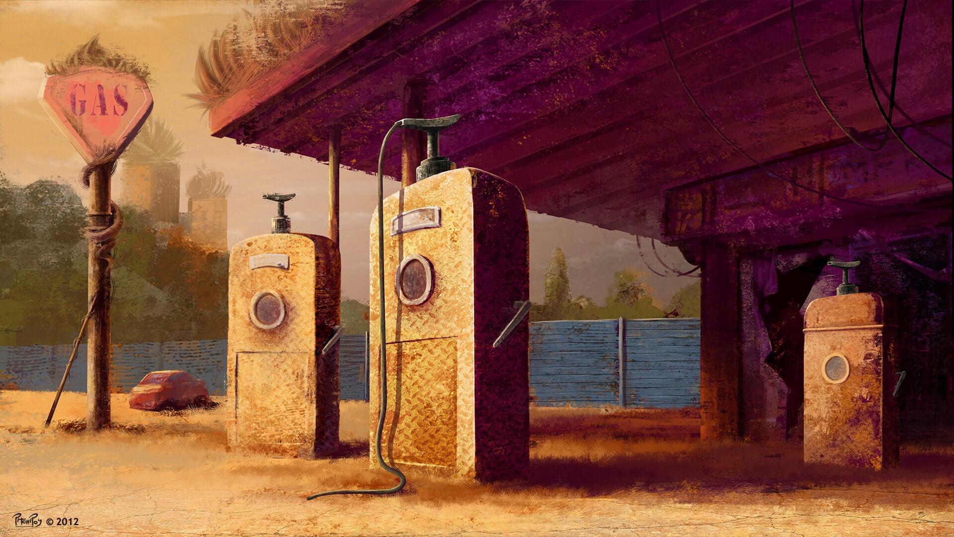 Gasstation_dusk_med_MS
